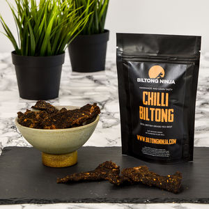 Biltong Mild Chilli Flavour Handcrafted Snap Sticks - food & drink
