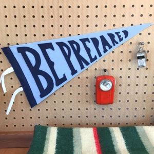 'Be Prepared' Pennant Flag
