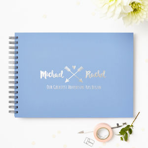 Personalised Couple's Guest Or Memory Book