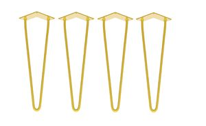 Four X Two Rod Yellow Hairpin Legs In All Sizes - furniture