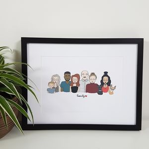 Personalised Family Illustration Print