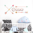 Follow Your Dreams Arrows Wall Decal Quote