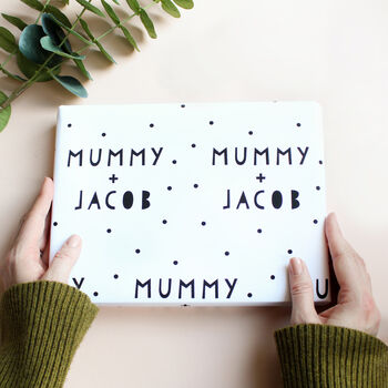 Personalised Daddy / Mummy And Child Wrapping Paper