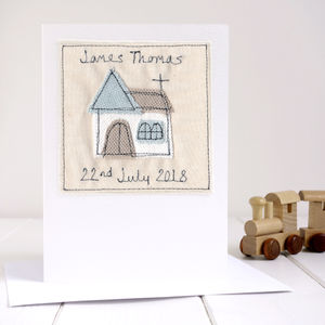 Personalised Boy's Christening Card