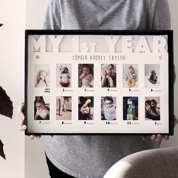 'My First Year' Photo Wall Hung Layered Print A3