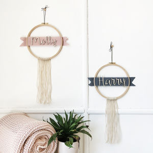 Personalised Name Ribbon And Fringe Hoop - gifts for children
