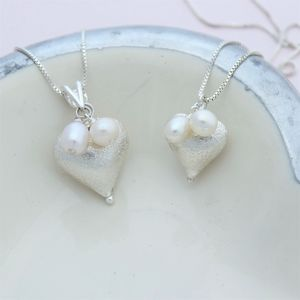 Mama Et Moi Silver Heart Pendants - children's jewellery