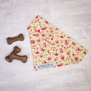 Pink Floral Slide On Collar Dog Bandana