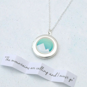 Adventure Awaits Mountain Locket Necklace