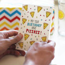 Pizza Birthday Card Birthday Pizzazz
