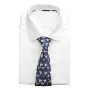 Hot Air Balloon Navy Silk Twill Men's Tie