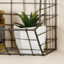 Handwoven Industrial Tiered Wall Storage