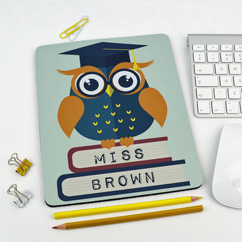 Personalised Owl Teacher Mouse Mat