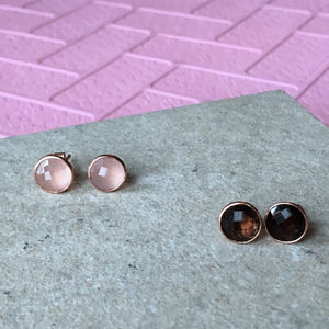 Rose Gold Plated Sterling Silver Earrings - earrings