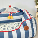 Nautical Square Dog Bed