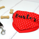Personalised Dog Bandana Red Polka Dots