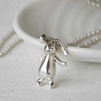 Sterling Silver Bunny Rabbit Necklace