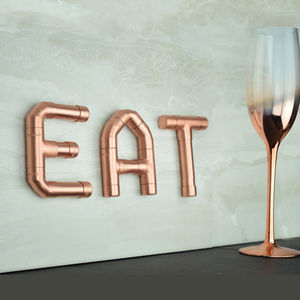 'Eat' Copper Letters - signs