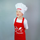 Personalised Children's Apron And Chef Hat Set
