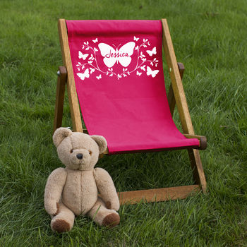 Personalised Children's Butterfly Deckchair