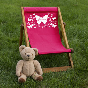 Personalised Children's Butterfly Deckchair - garden furniture