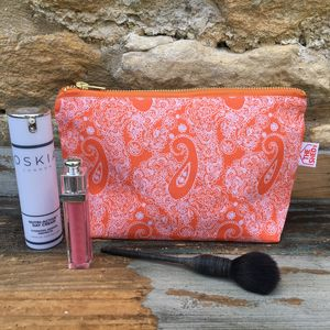 Tangerine Cotswold Paisley Makeup Bag - make-up & wash bags