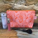 Tangerine Cotswold Paisley Makeup Bag