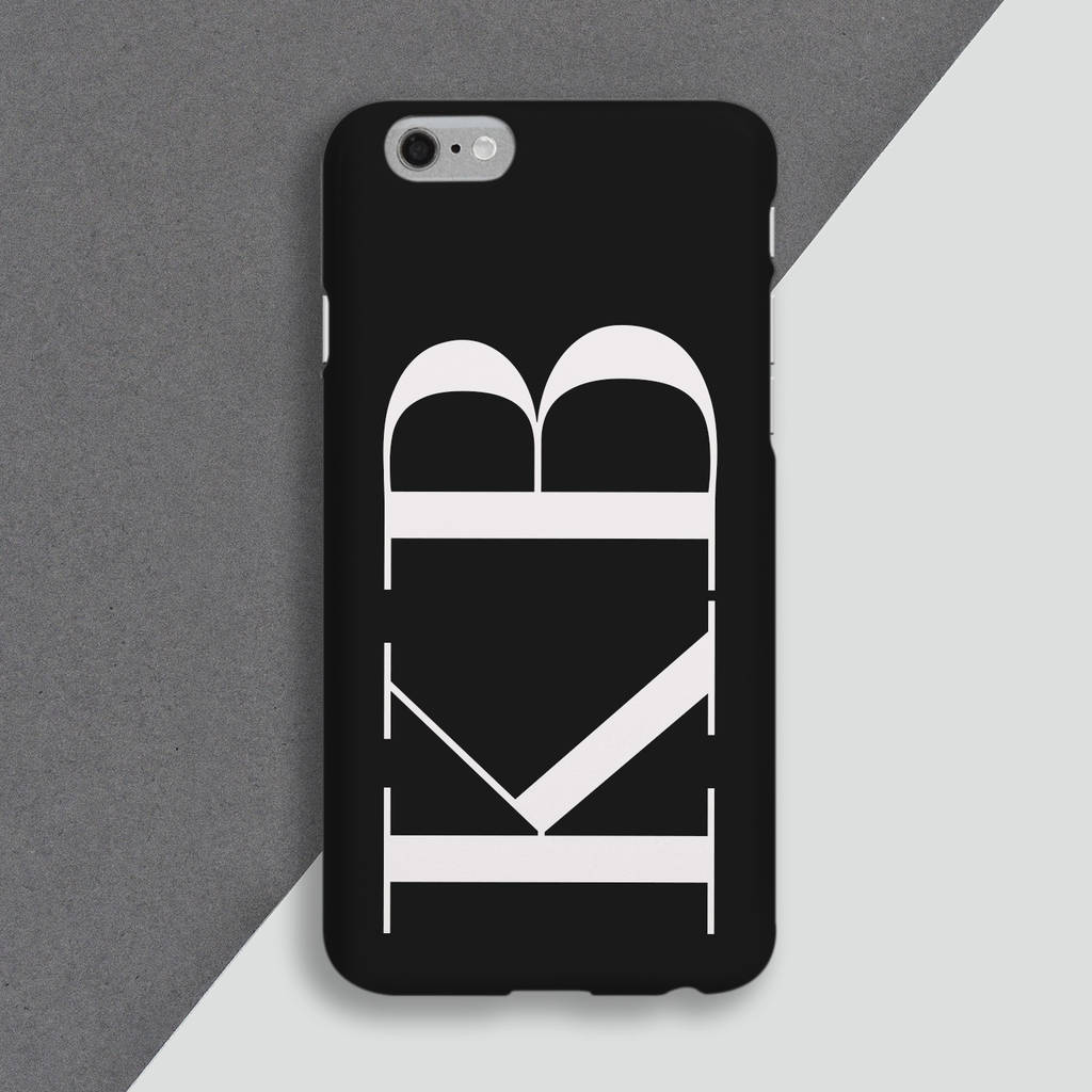 release date: 98bc6 68f9f Large Initial Personalised Monogram Phone Case