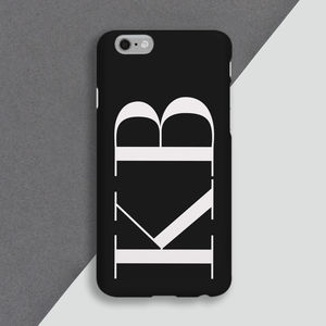 Large Initial Personalised Monogram Phone Case