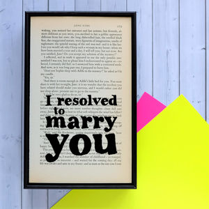 Jane Eyre 'Resolved' Quote Print - new in prints & art