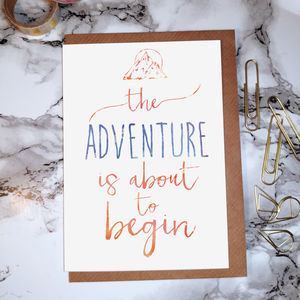 'Adventure' Wanderlust Greeting Card - blank cards