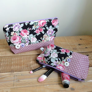 Botanic Print Makeup Bag - make-up bags