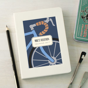 Personalised Cycling Notebook
