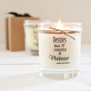 Personalised Best Friend Scented Candle - prosecco gifts
