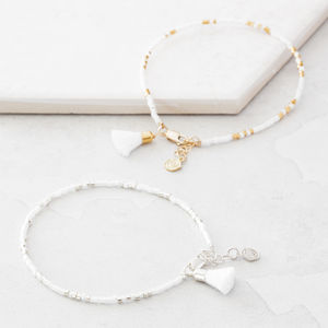 Morse Code Wedding Bracelet - wedding jewellery