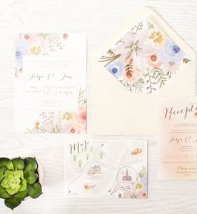 'In Bloom' Wedding Invitations - styling your day sale
