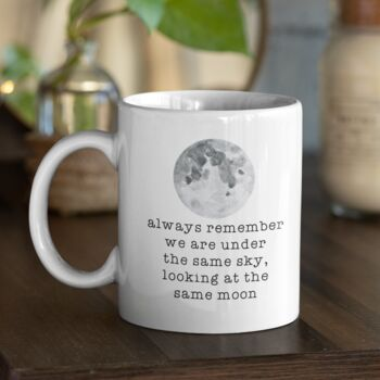 Miss You Moon Personalised Gift Mug