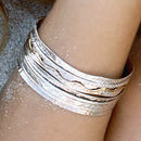 Aura Silver Spinning Bangle