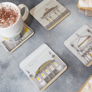Brighton Landmarks Set Of Four Coasters