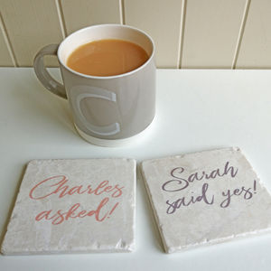Personalised Engagement Coasters