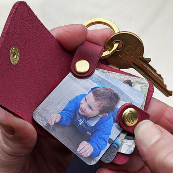 Personalised Leather Photo Book Keyring