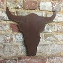 Rusted Metal Bulls Head Silhouette