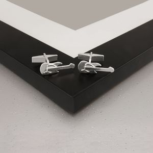 Guitar Cufflinks In Sterling Silver