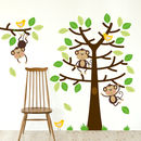 Cheeky Monkeys Tree Wall Decal Sticker Set