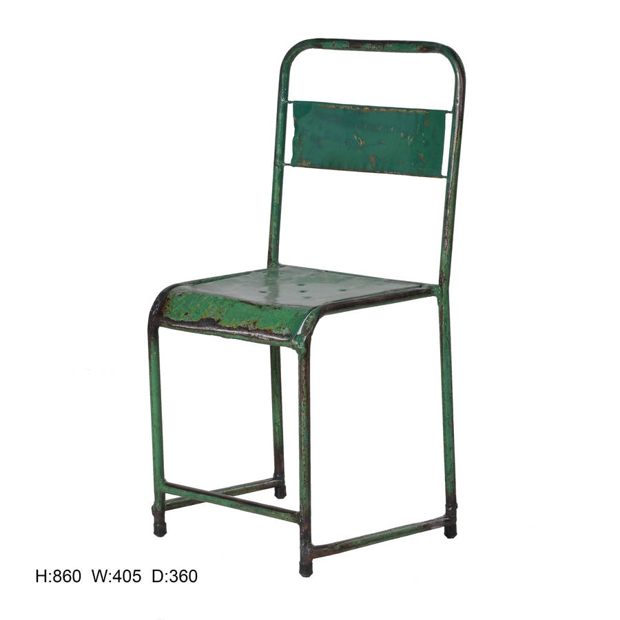 Metal School Chair By The Forest Amp Co Notonthehighstreet Com