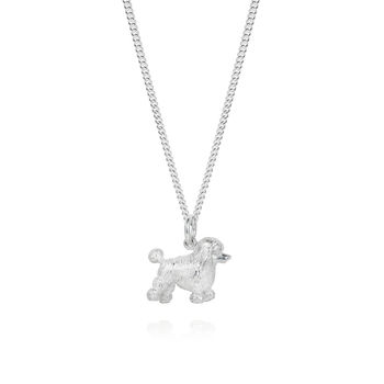 Silver Poodle Necklace