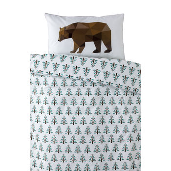 Bear In The Woods Bedding Set
