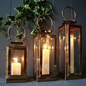 Copper New York Lantern - home accessories