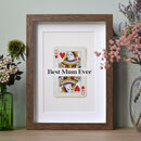 Mother's Day Queen Personalised Playing Card Gift Print