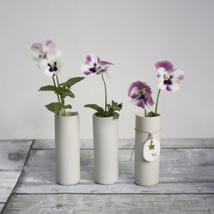 Single Stem Handmade Ceramic Vase - vases